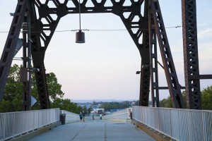 Down the Big Four Bridge Ramp to Jeffersonville