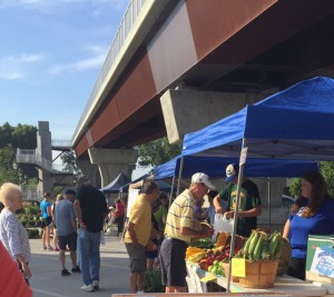 Farmers Market under Big Four Bridge