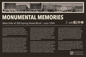 Monumental Memories Flyer