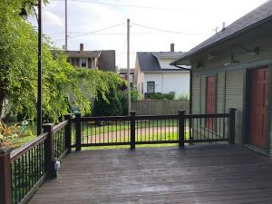 The back deck at Preservation Station event space